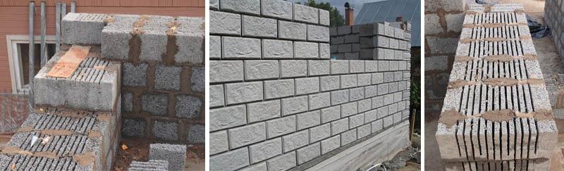 Кладка керамзитобетонных стен