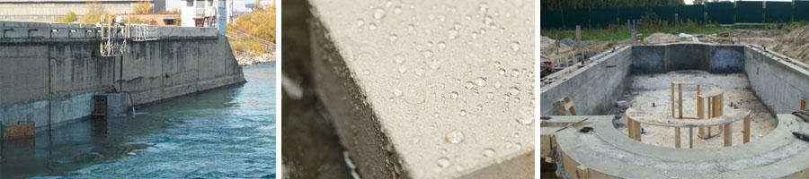 Конструкции из водонепроницаемого бетона
