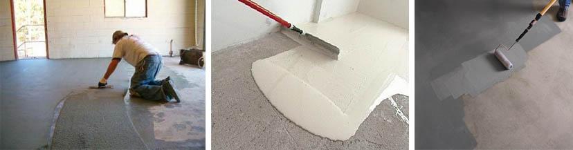 Нанесение краски на бетонную поверхность
