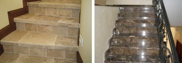 Облицовка лестницы керамогранитом