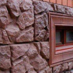 Облицовка фундамента дома - вариант отделки под камень