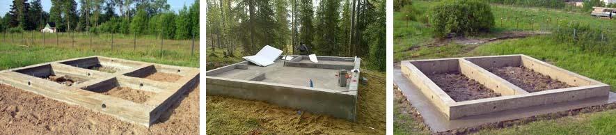Основание для бани