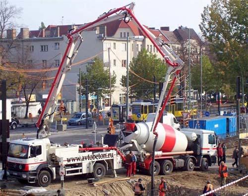 Применение бетононасоса
