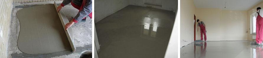 Сплошная бетонная стяжка