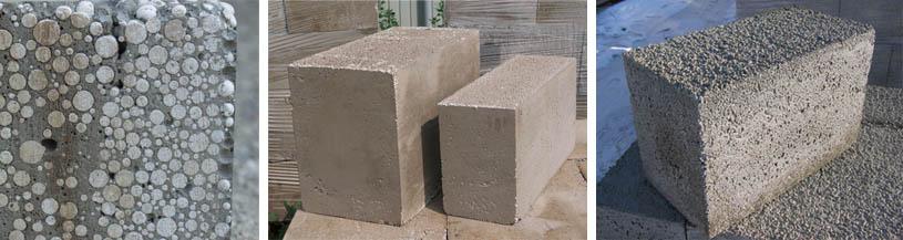 Фото блоков из полистиролбетона