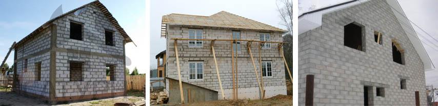 Фото домов из блоков пенобетона