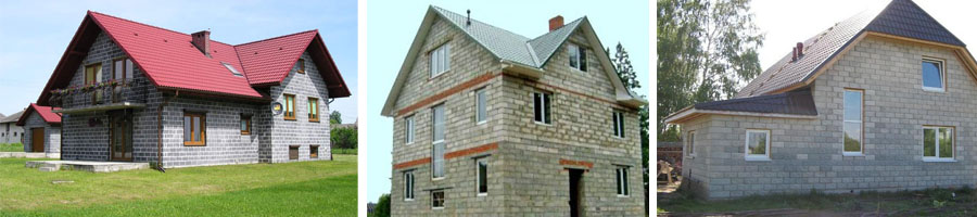 Фото построенных шлакоблочных домов