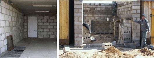Возведение гаража из блоков шлакобетона