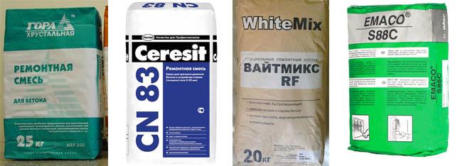 Ремонтная смесь для бетонных стен бетон заказ петрозаводск