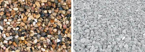 Гравийный и известняковый камень
