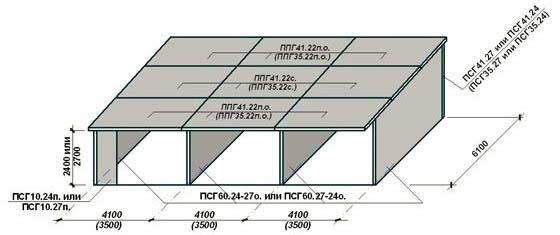 Схема сборных гаражей