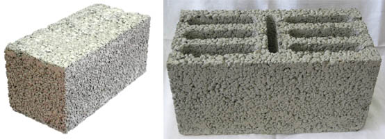 Полнотелый и семищелевой блоки