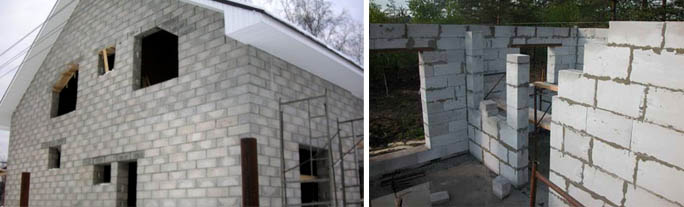 Строения из бетонных блоков