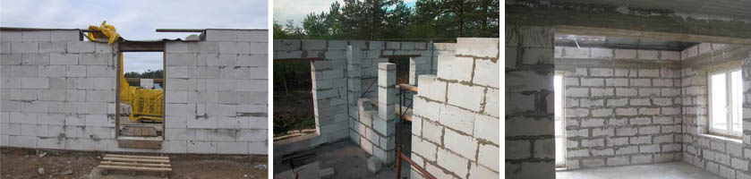 Строения из газобетона