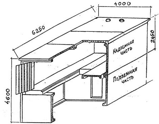 Схема гаража из ЖБИ