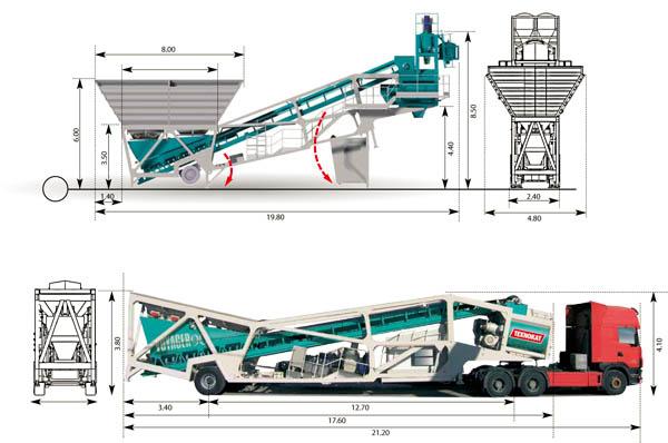 Техническая схема БРУ и транспортировки