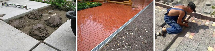 Плитка на бетонной поверхности