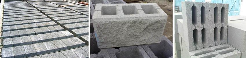 Фото строительных блоков из шлакобетона