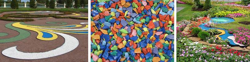 Цветная крошка для украшения ландшафта