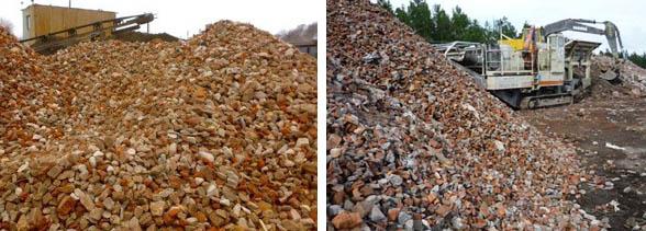Щебенка из строительного мусора