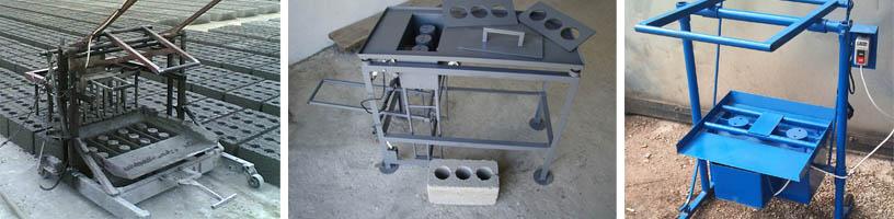Изготовление строительных блоков с помощью вибростанка