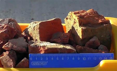 Кирпичные элементы фракции 40-100 мм