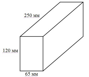 Размеры одинарного кирпича